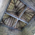 Steelwork supporting roof