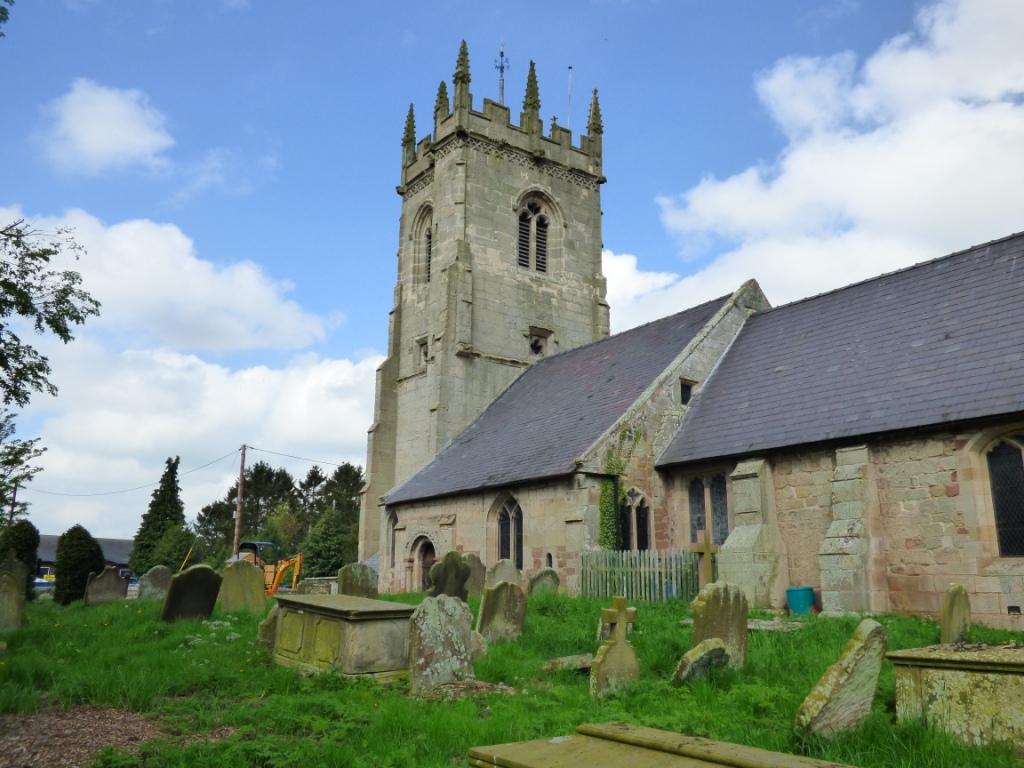 view of St Mary's church Shawbury